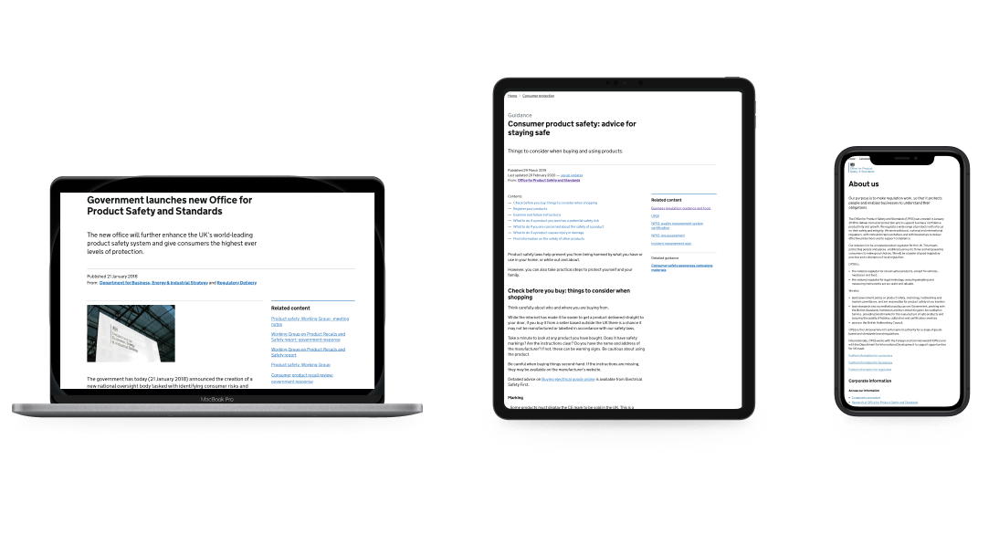 Office for Product Safety and Standards web assets